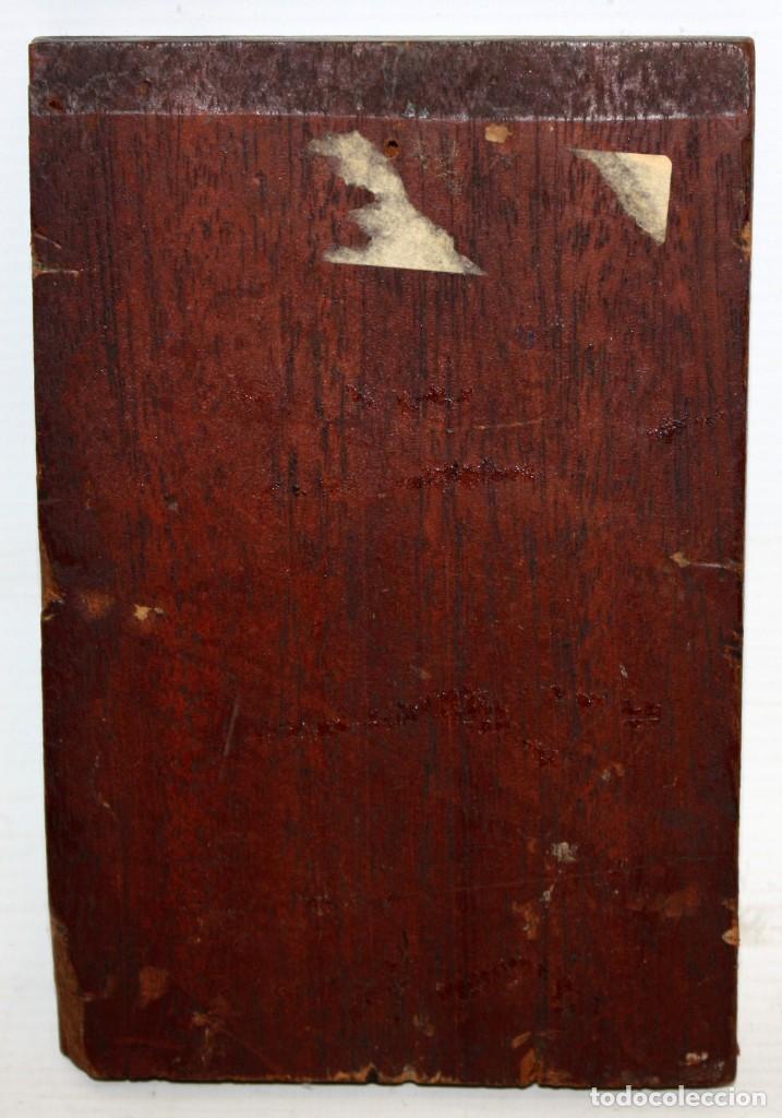 Arte: LEROY DER VETTEZ. OLEO SOBRE TABLA DEL SIGLO XIX. MOSQUETERO - Foto 8 - 127636923