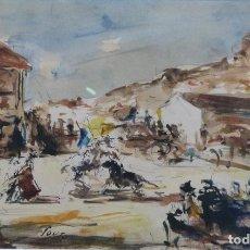 Arte: ARTURO SOUTO (PONTEVEDRA 1902- MÉXICO 1964) ESCENA TAURINA. MIXTA SOBRE PAPEL.. Lote 127649767
