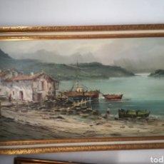Arte: CUADRO CON MOTIVOS MARINEROS COSTUMBRISTAS. Lote 127781060