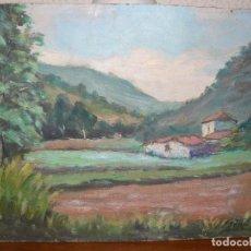 Arte: OLEO SOBRE TABLEX . FDO. J SERRA - PAISAJE. Lote 127863279