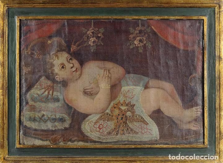 ESCUELA COLONIAL (Arte - Pintura - Pintura al Óleo Antigua siglo XVIII)