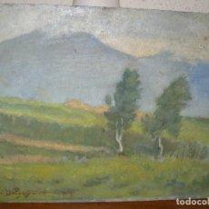 Arte: OLEO SOBRE CARTÓN - FDO ANDRÈ DELPEY - LES ALPES- . Lote 127865327