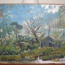 Arte - oleo sobre carton - anónimo - Firmado en el reverso ilegible - casa en el bosque - 127867851
