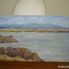 Arte: OLEO SOBRE MADERA - FIRMADA BATLLORI - PAISAJE COSTERO. Lote 127869943