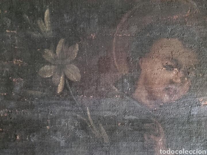 Arte: SAN ANTONIO CON EL NIÑO, SIGLO XVIII, OLEO/LIENZO. PEQUEÑAS FALTAS EN LA PINTURA - Foto 5 - 127919628