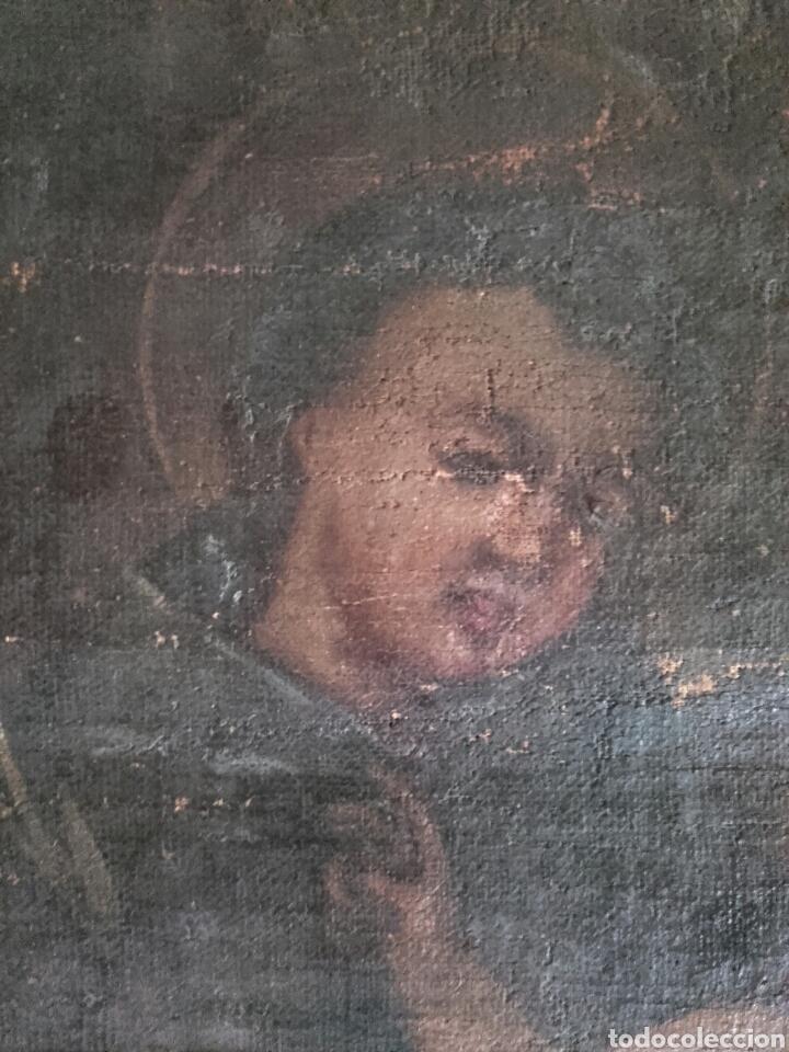 Arte: SAN ANTONIO CON EL NIÑO, SIGLO XVIII, OLEO/LIENZO. PEQUEÑAS FALTAS EN LA PINTURA - Foto 6 - 127919628