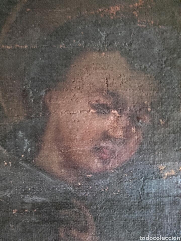 Arte: SAN ANTONIO CON EL NIÑO, SIGLO XVIII, OLEO/LIENZO. PEQUEÑAS FALTAS EN LA PINTURA - Foto 9 - 127919628