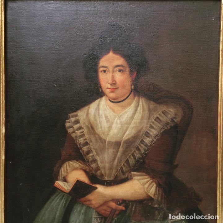 RETRATO DE DAMA OLEO SOBRE LIENZO SIGLO XVIII (Arte - Pintura - Pintura al Óleo Antigua siglo XVIII)