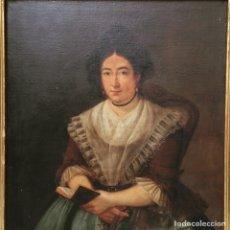 Arte: RETRATO DE DAMA OLEO SOBRE LIENZO SIGLO XVIII. Lote 127923995
