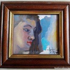 Arte: TALYBONT (MANRESA, 1957) - OLEO SOBRE TABLEX CERTIFICADO - ENMARCADO 13 X 12. Lote 130926179