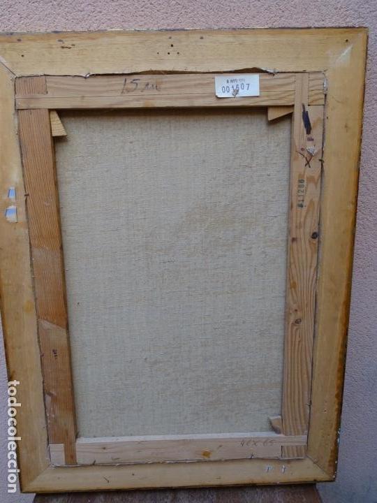 Arte: Óleo sobre tela de Valls trullas.interior.Buen trazo.escuela catalana. - Foto 7 - 127975723
