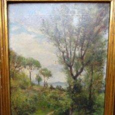 Arte: ÓLEO REENTELADO DE JOAQUIM MAMBRU 1919.ESCUELA CATALANA.. Lote 127975935