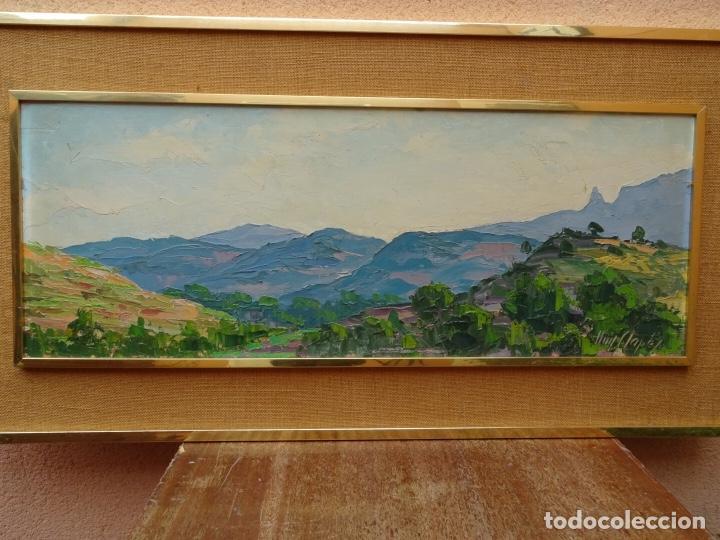GRAN ÓLEO DE LLUÍS CLAPES.PAISAJE DE MONTSERRAT.BUEN TRAZO. (Arte - Pintura - Pintura al Óleo Contemporánea )
