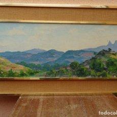 Arte: GRAN ÓLEO DE LLUÍS CLAPES.PAISAJE DE MONTSERRAT.BUEN TRAZO.. Lote 127976243