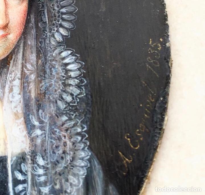 Arte: Miniatura Antonio Maria Esquivel. La Condesa de Torrejón. Firmada. 1835. - Foto 2 - 127978556