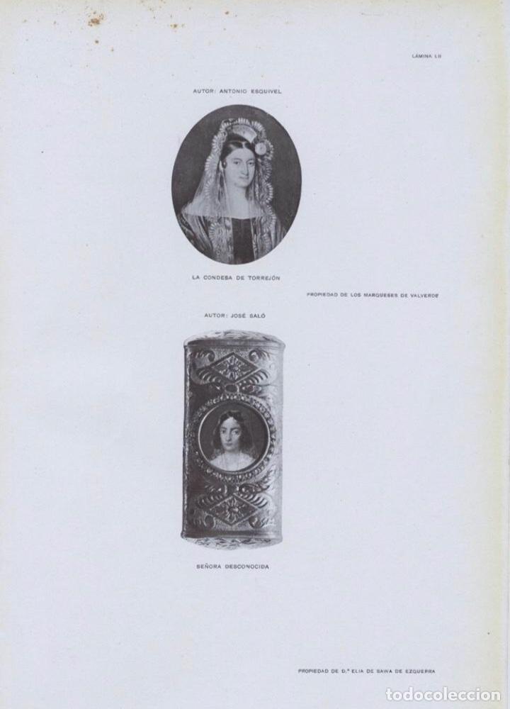 Arte: Miniatura Antonio Maria Esquivel. La Condesa de Torrejón. Firmada. 1835. - Foto 3 - 127978556