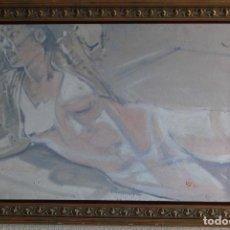 Arte: ÓLEO SOBRE LIENZO - DESNUDO FEMENINO - FIRMADO Y FECHADO. Lote 128085703