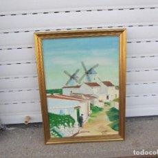 Arte: CUADRO AL OLEO EN MADERA 1980 FIRMADO. Lote 128114223