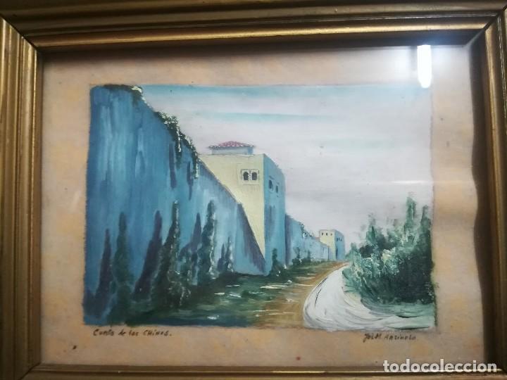 Arte: Antiguo Óleo sobre papel de cuesta de los chinos (Granada) firmada Jos. M. Antinolo miren fotos - Foto 2 - 128117447