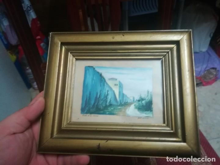 Arte: Antiguo Óleo sobre papel de cuesta de los chinos (Granada) firmada Jos. M. Antinolo miren fotos - Foto 5 - 128117447