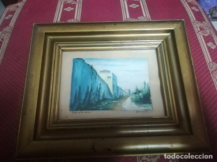 Arte: Antiguo Óleo sobre papel de cuesta de los chinos (Granada) firmada Jos. M. Antinolo miren fotos - Foto 6 - 128117447