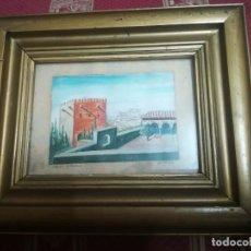 Arte: ANTIGUO ÓLEO SOBRE PAPEL DE JARDINES DE MACHUCA (GRANADA) FIRMADA JOS. M. ANTINOLO MIREN FOTOS . Lote 128117563