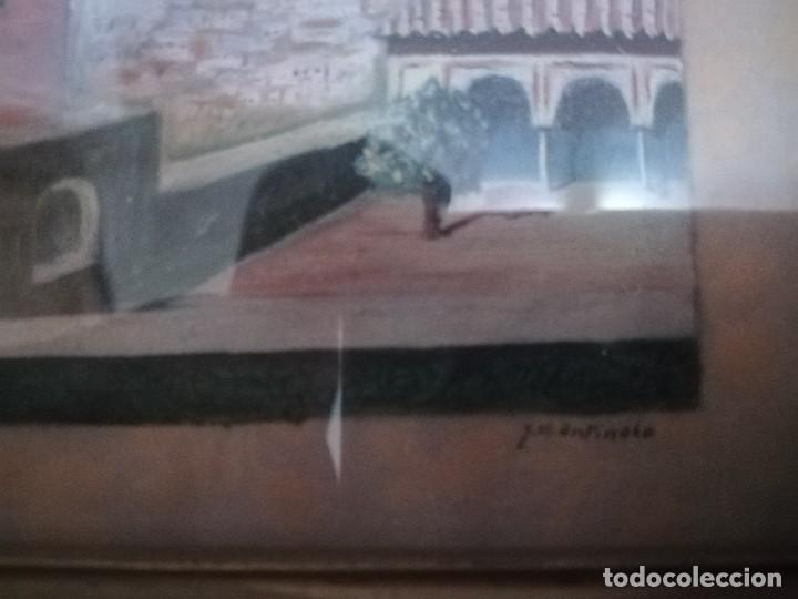 Arte: Antiguo Óleo sobre papel de jardines de machuca (Granada) firmada Jos. M. Antinolo miren fotos - Foto 4 - 128117563
