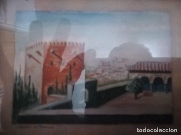 Arte: Antiguo Óleo sobre papel de jardines de machuca (Granada) firmada Jos. M. Antinolo miren fotos - Foto 8 - 128117563