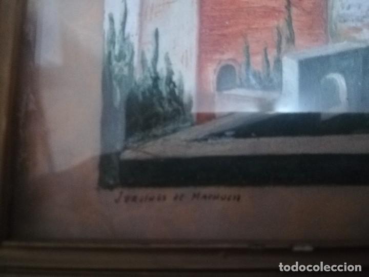 Arte: Antiguo Óleo sobre papel de jardines de machuca (Granada) firmada Jos. M. Antinolo miren fotos - Foto 10 - 128117563