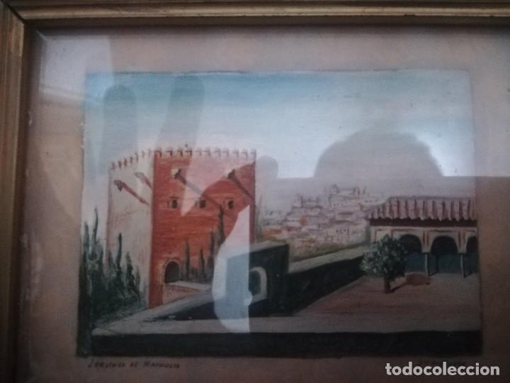 Arte: Antiguo Óleo sobre papel de jardines de machuca (Granada) firmada Jos. M. Antinolo miren fotos - Foto 11 - 128117563