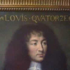 Arte: ANTIQUE FINE ART REPRODUCCION DE PINTURA AL OLEO DEL REY LUIS XIV. Lote 128319067