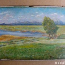 Arte: CUADRO PINTURA AL OLEO IMPRESIONISTA - PAISAJE - FIRMADO AÑO 1920. Lote 128217771