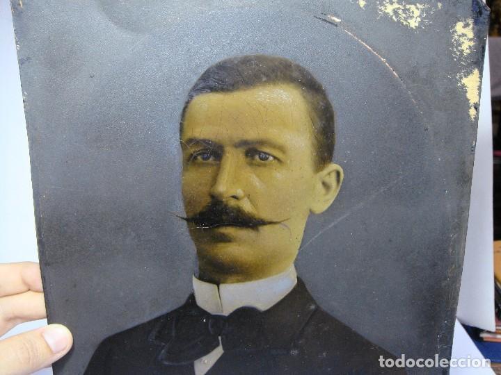 Arte: Óleo sobre cobre. Retrato. S.XIX. - Foto 2 - 128238423