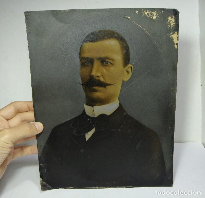 Arte: Óleo sobre cobre. Retrato. S.XIX. - Foto 4 - 128238423