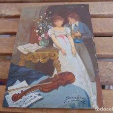 Arte: BONITA TABLA PINTADA AL OLEO FIRMADA GONZALEZ MIDE 22.5 X 16 CM. Lote 128365551