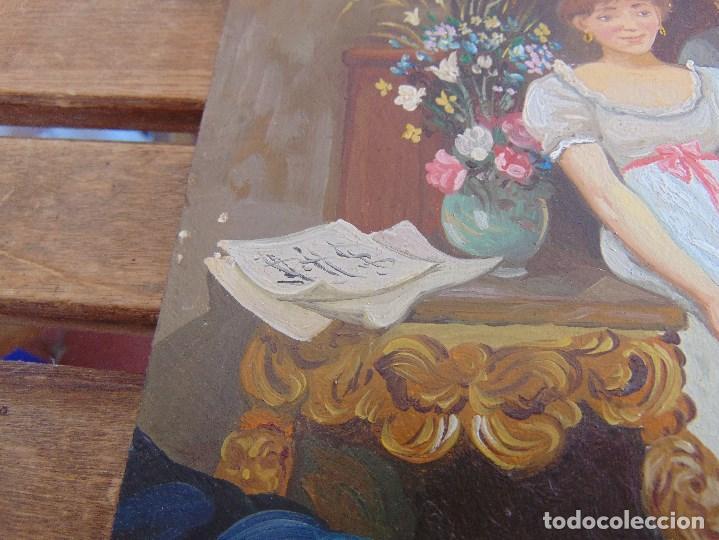 Arte: BONITA TABLA PINTADA AL OLEO FIRMADA GONZALEZ MIDE 22.5 X 16 CM - Foto 5 - 128365551