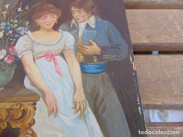 Arte: BONITA TABLA PINTADA AL OLEO FIRMADA GONZALEZ MIDE 22.5 X 16 CM - Foto 6 - 128365551