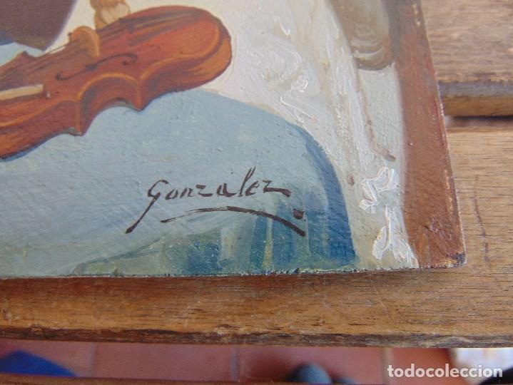 Arte: BONITA TABLA PINTADA AL OLEO FIRMADA GONZALEZ MIDE 22.5 X 16 CM - Foto 8 - 128365551