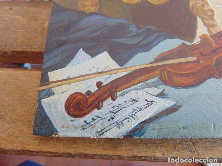 Arte: BONITA TABLA PINTADA AL OLEO FIRMADA GONZALEZ MIDE 22.5 X 16 CM - Foto 9 - 128365551