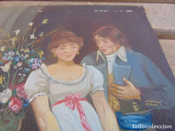 Arte: BONITA TABLA PINTADA AL OLEO FIRMADA GONZALEZ MIDE 22.5 X 16 CM - Foto 10 - 128365551