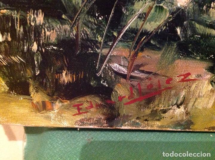 Arte: Cuadro óleo del pintor Eduardo Mójez - Foto 2 - 128368439