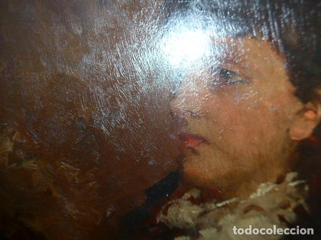 Arte: Francisco Miralles. Paleta al oleo original firmado y fechado en 1882. - Foto 5 - 128387311