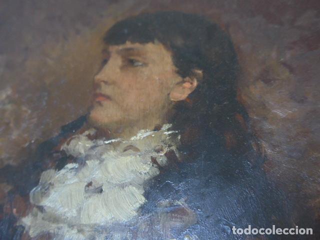Arte: Francisco Miralles. Paleta al oleo original firmado y fechado en 1882. - Foto 6 - 128387311