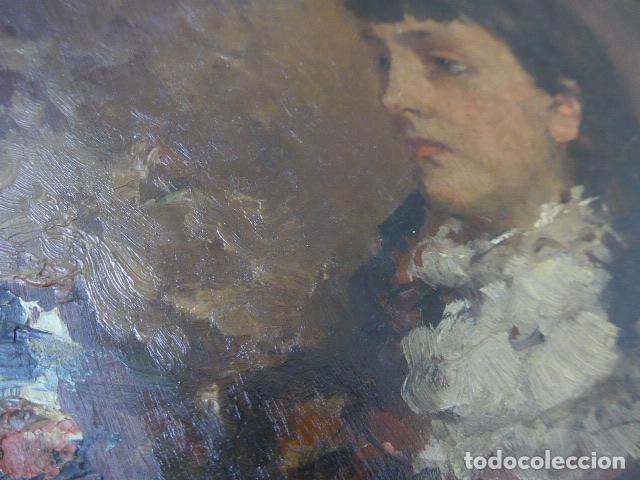 Arte: Francisco Miralles. Paleta al oleo original firmado y fechado en 1882. - Foto 7 - 128387311