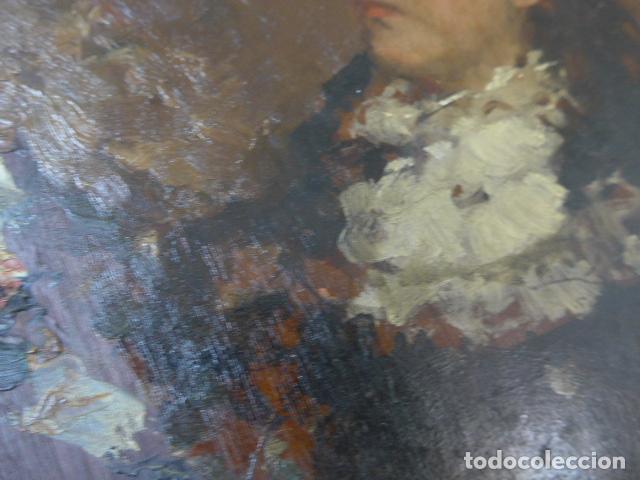 Arte: Francisco Miralles. Paleta al oleo original firmado y fechado en 1882. - Foto 8 - 128387311