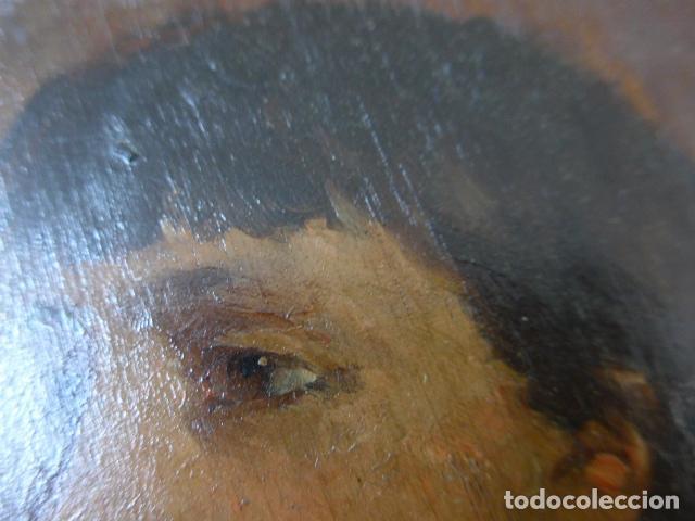 Arte: Francisco Miralles. Paleta al oleo original firmado y fechado en 1882. - Foto 9 - 128387311