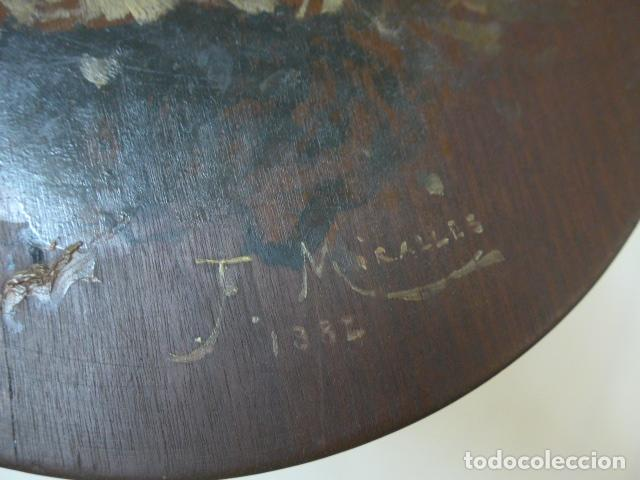 Arte: Francisco Miralles. Paleta al oleo original firmado y fechado en 1882. - Foto 11 - 128387311