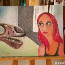 Arte: ÓLEO SOBRE LIENZO OBRA ORIGINAL FIRMADA JOVEN EN EL MUSEO. AUTORA CATALINA FRANCO. Lote 128390159