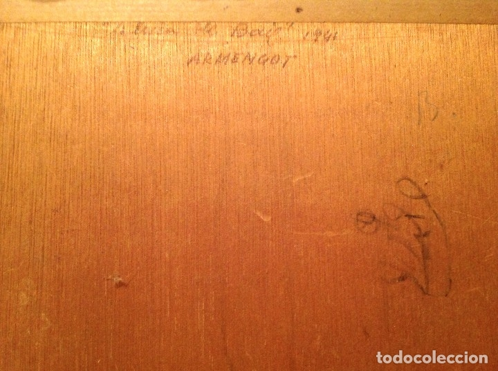 Arte: Antiguo cuadro óleo del pintor Armengot Fecha 1941 - Foto 3 - 46432130