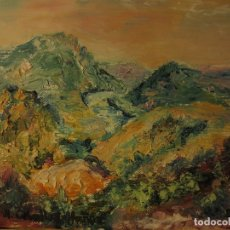 Arte: OLEO PINTURA ANTIGUA IMPRESIONISTA FIRMA M CEBALLO MUÑOZ PEQUEÑO CARTON 16 X 12 CMS. Lote 116817579